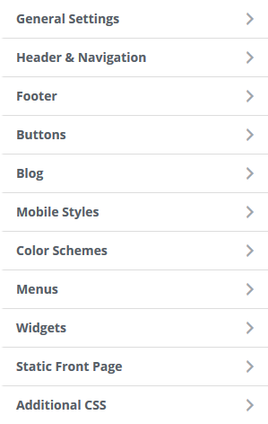 Wordpress customization menu