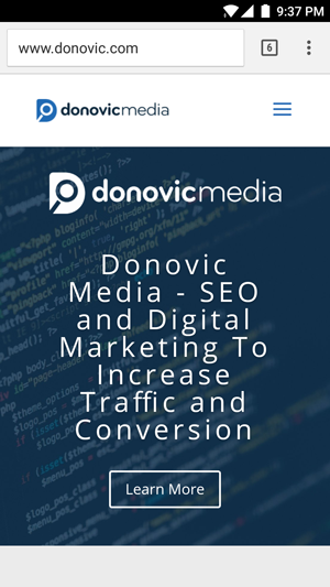 Donovic Media on mobile