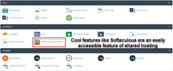 cPanel Softaculous example