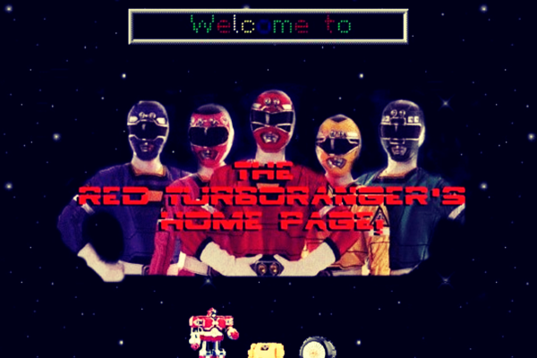 Geocities Power Rangers site example