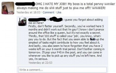 Facebook Girl Hates Job