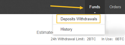 Binance deposits and withdrawls