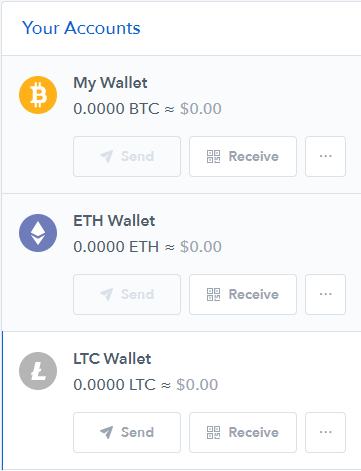 Coinbase send and receive
